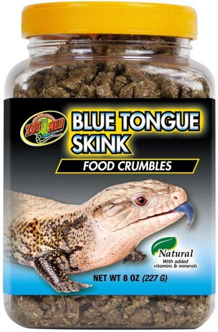 Zoo Med Blue Tongue Skink Food Crumbles Foods Dry Zoo Med 8 oz