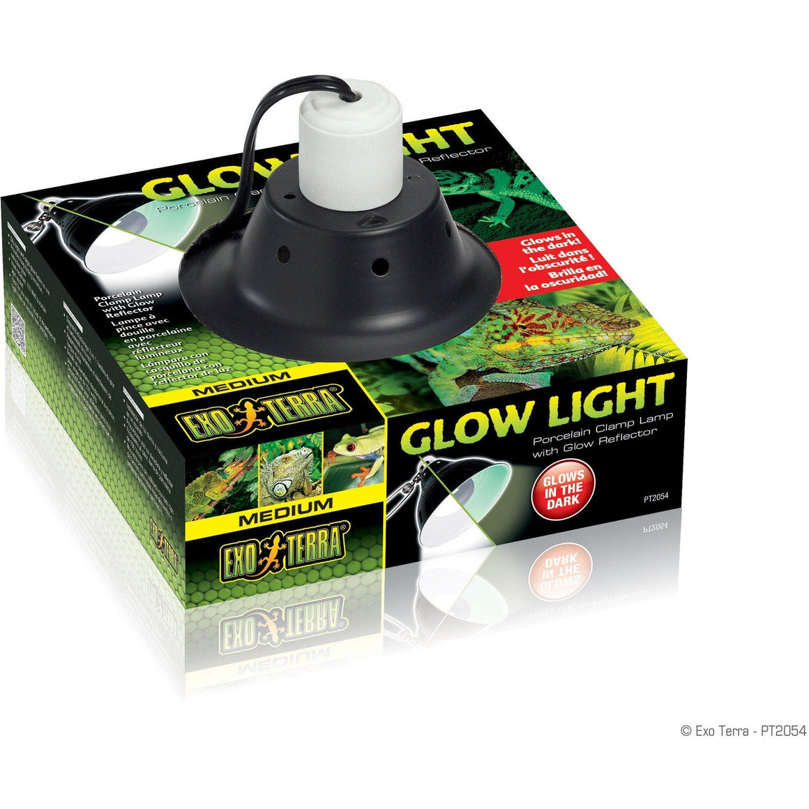 "Exo Terra Glow Light Porcelain Clamp Lamp Small - 100 Watt - (5.5"" Diameter)"