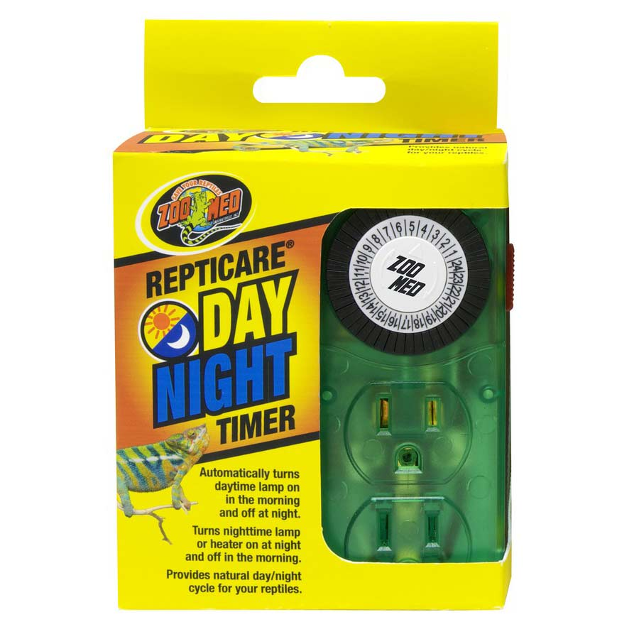 Zoo Med ReptiCare Day & Night Timer Heating Zoo Med Timer with 2 Sockets