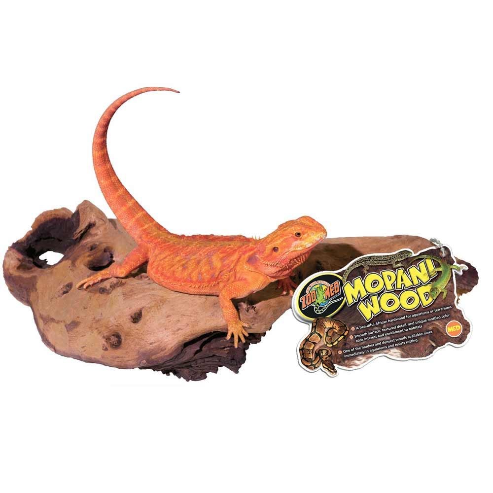 "Zoo Med Mopani Wood - Two-Toned Hardwood Climbing Items Zoo Med Medium (10""-12"" Long)"