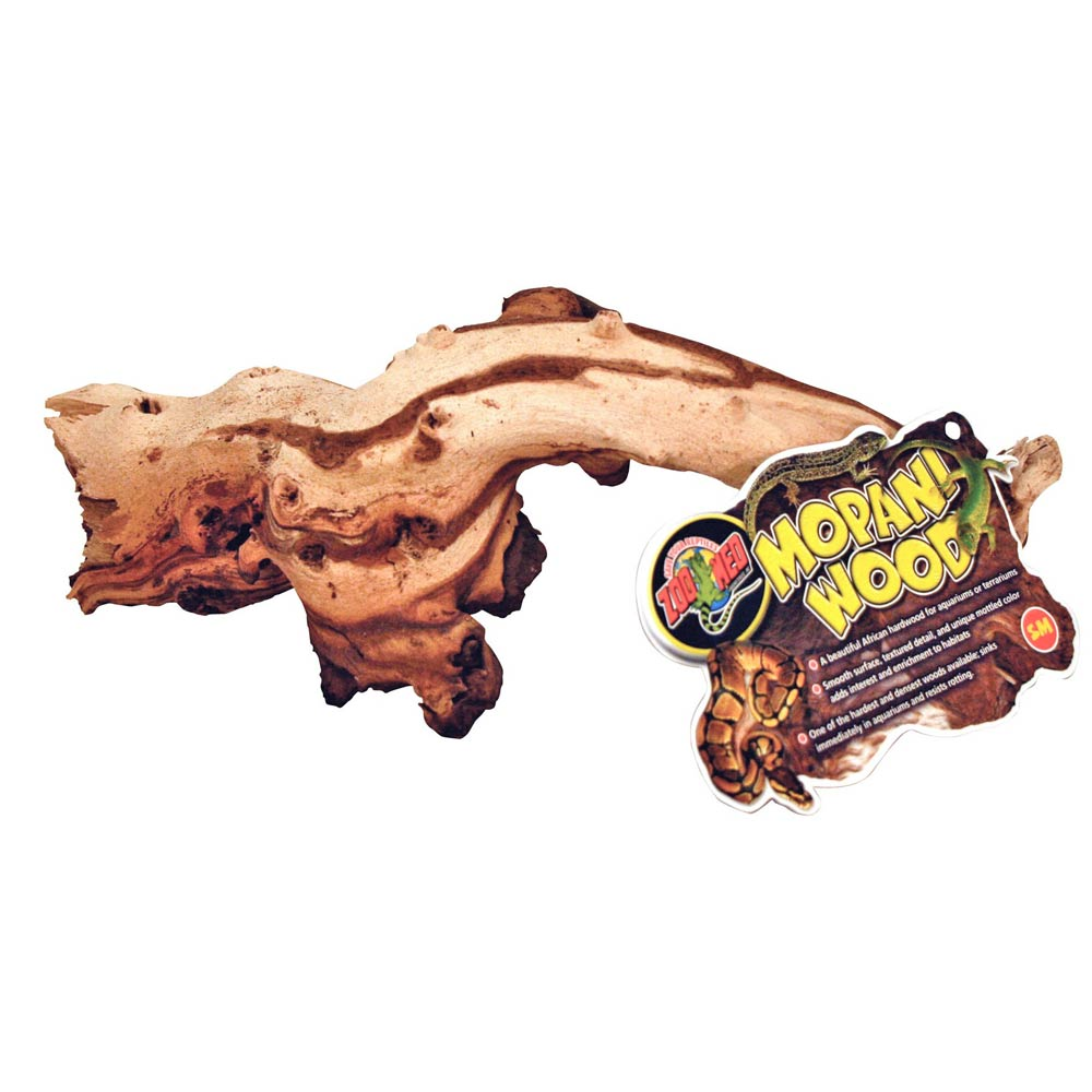 "Zoo Med Mopani Wood - Two-Toned Hardwood Climbing Items Zoo Med Small (6""-8"" Long)"