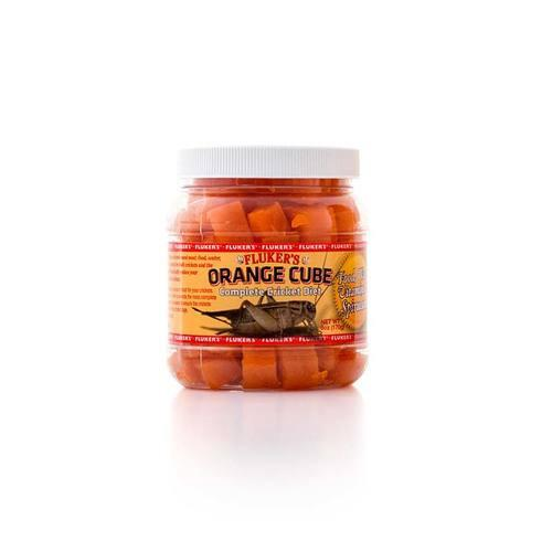 Flukers Orange Cube Complete Cricket Diet Foods Dry Flukers 6 oz