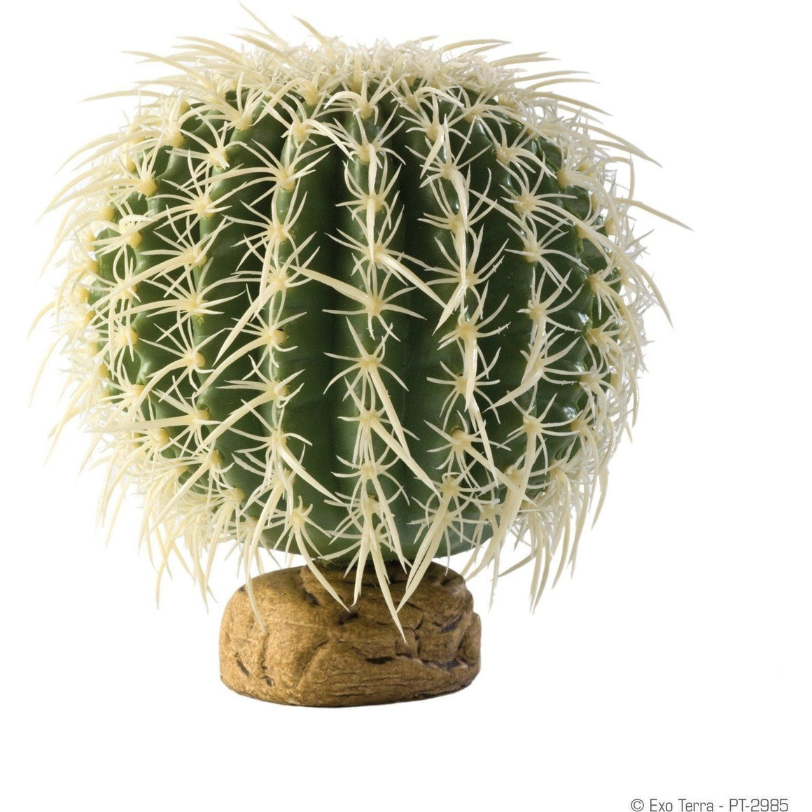 Exo Terra Desert Barrel Cactus Terrarium Plant Decorations Exo Terra Small - 1 Pack
