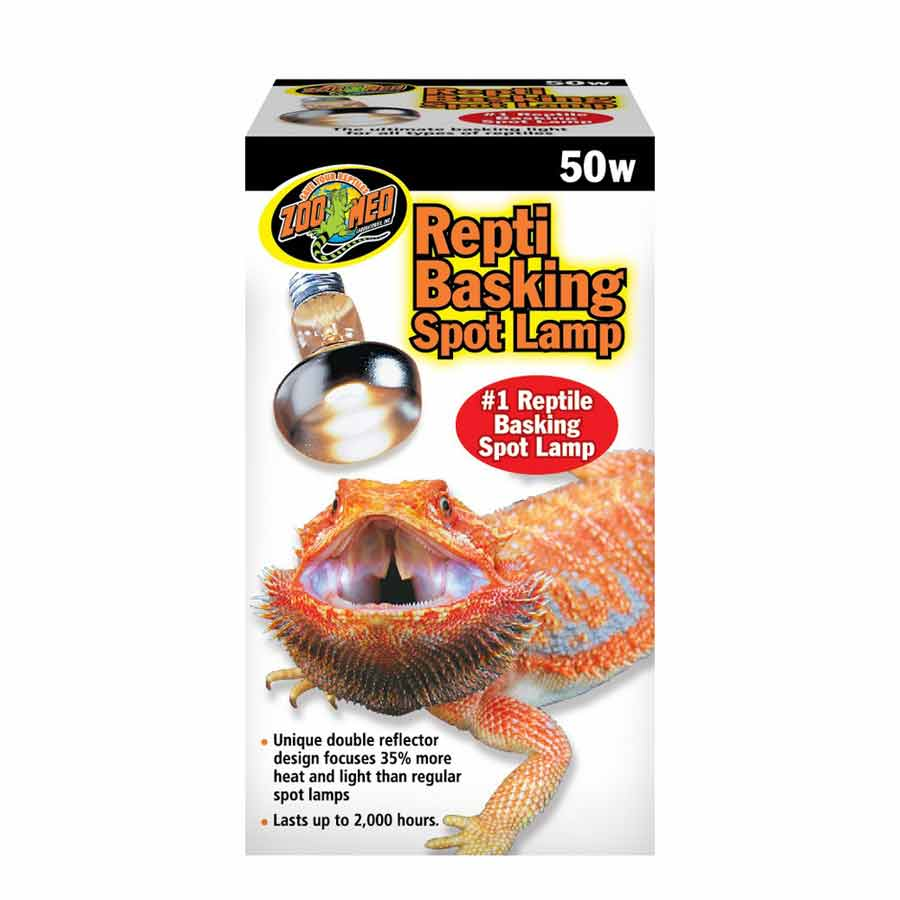 Zoo Med Repti Basking Spot Lamp with UVA Lighting Incandescent Zoo Med 50 Watts