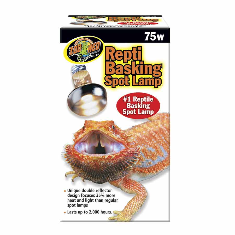 Zoo Med Repti Basking Spot Lamp with UVA Lighting Incandescent Zoo Med 75 Watts