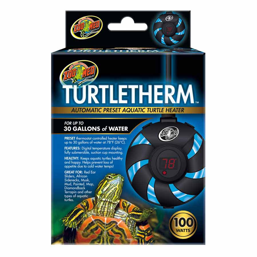 Zoo Med Turtletherm Automatic Preset Aquatic Turtle Heater Heating Zoo Med 100 Watt (Up to 30 Gallons)