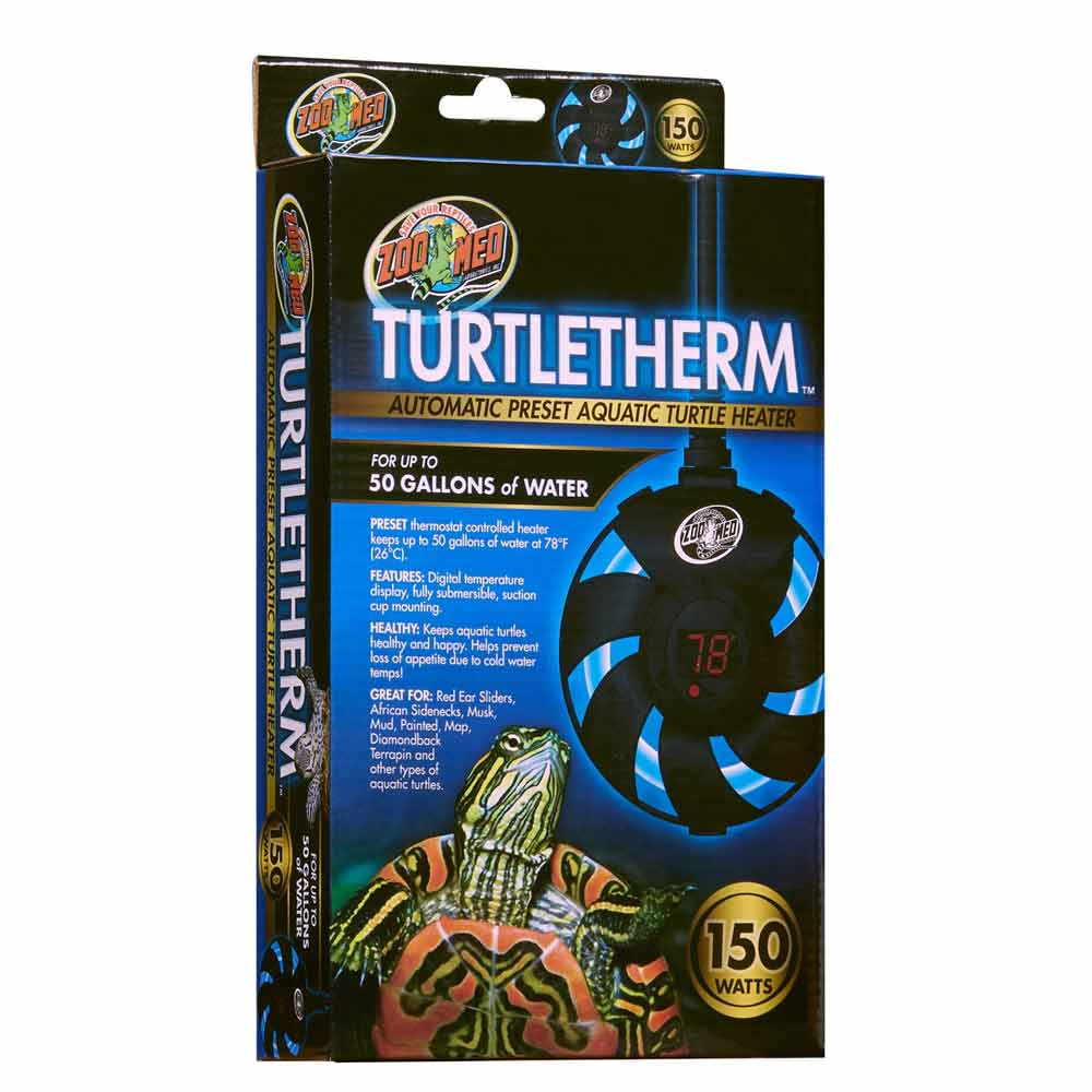 Zoo Med Turtletherm Automatic Preset Aquatic Turtle Heater Heating Zoo Med 150 Watt (Up to 50 Gallons)