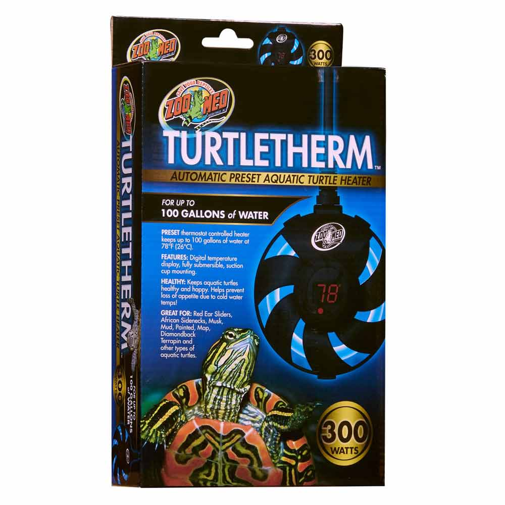 Zoo Med Turtletherm Automatic Preset Aquatic Turtle Heater Heating Zoo Med 300 Watt (Up to 100 Gallons)