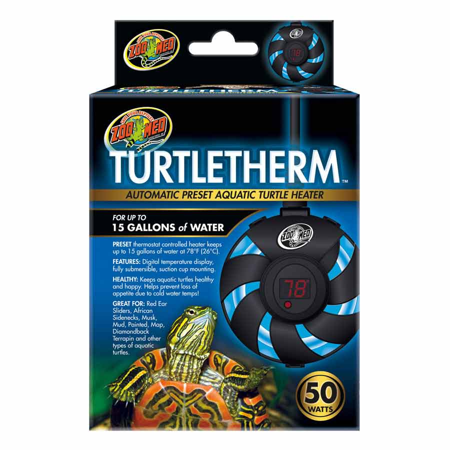 Zoo Med Turtletherm Automatic Preset Aquatic Turtle Heater Heating Zoo Med 50 Watt (Up to 15 Gallons)