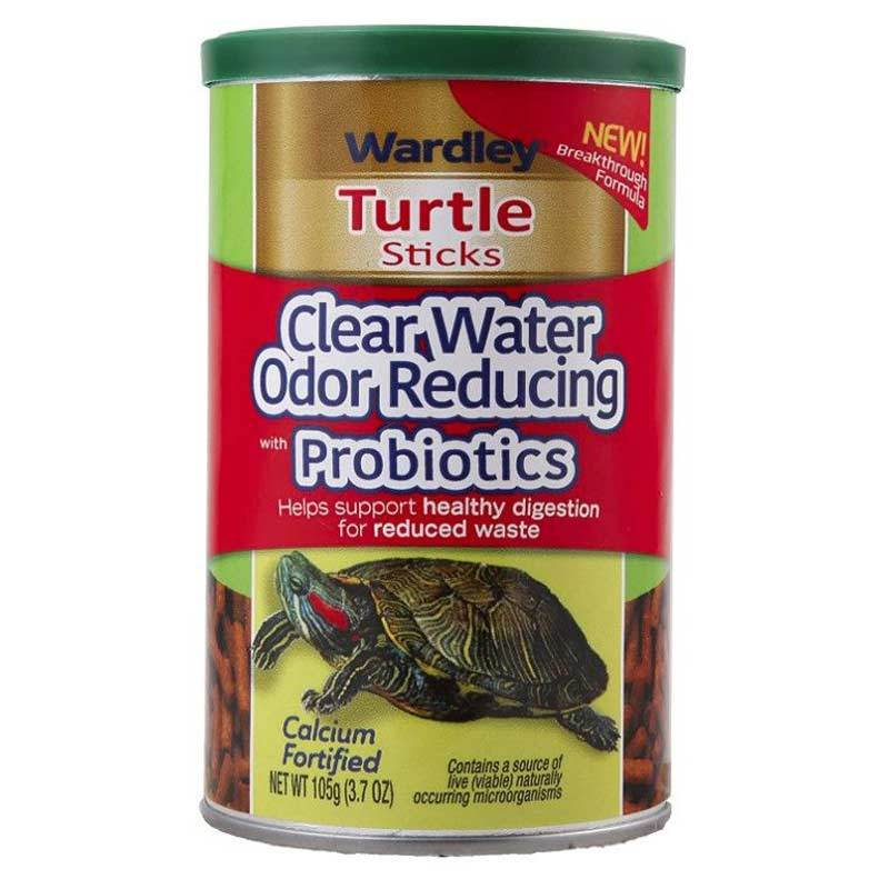 Wardley Calcium Fortified Odor Reducing Turtle Sticks with Probiotics Foods Dry Wardley
