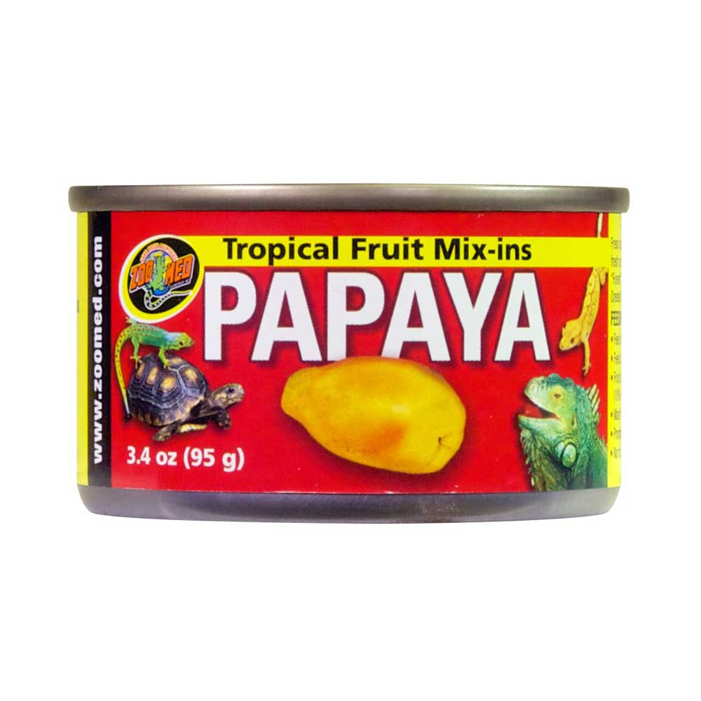 Zoo Med Tropical Fruit Mix-ins Papaya Reptile Treat Foods Canned Zoo Med