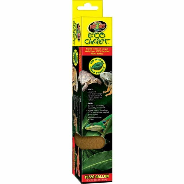 "Zoo Med Eco Carpet - Green or Tan Reptile Carpet Cage Carpets Zoo Med 29 Gallon (12"" x 30"") - Tan"