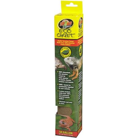 "Zoo Med Eco Carpet - Green or Tan Reptile Carpet Cage Carpets Zoo Med 50 Gallon (15"" x 48"") - Tan"