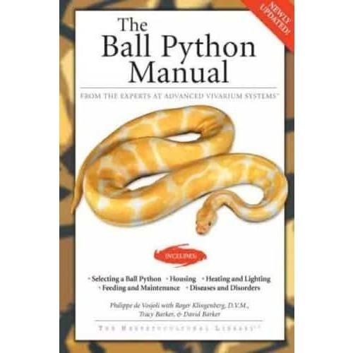 The Ball Python Manual (Herpetocultural Library) Book - FREE Shipping! Book Reptiles Lounge