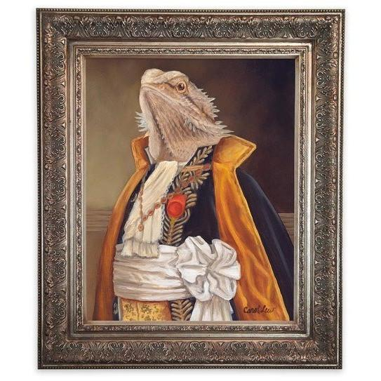 Mr. Spike Bearded Dragon Portrait on Print