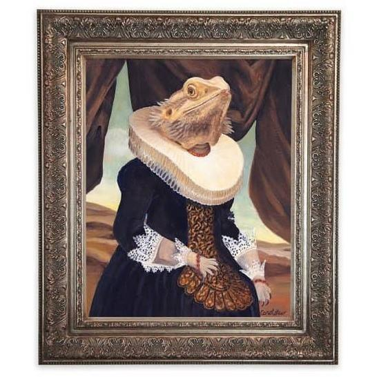 Mrs. Spike Bearded Dragon Portrait - Canvas