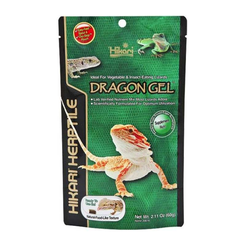 Hikari Herptile DragonGel for Lizards - Bearded Dragon Food Food Liquid & Specialty Hikari