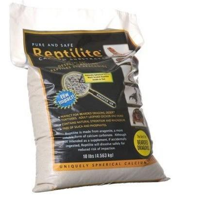 Blue Iguana Reptilite Calcium Substrate for Reptiles - Natural White Sand & Gravel Caribsea 40 lbs - (4 x 10 lb Bags)