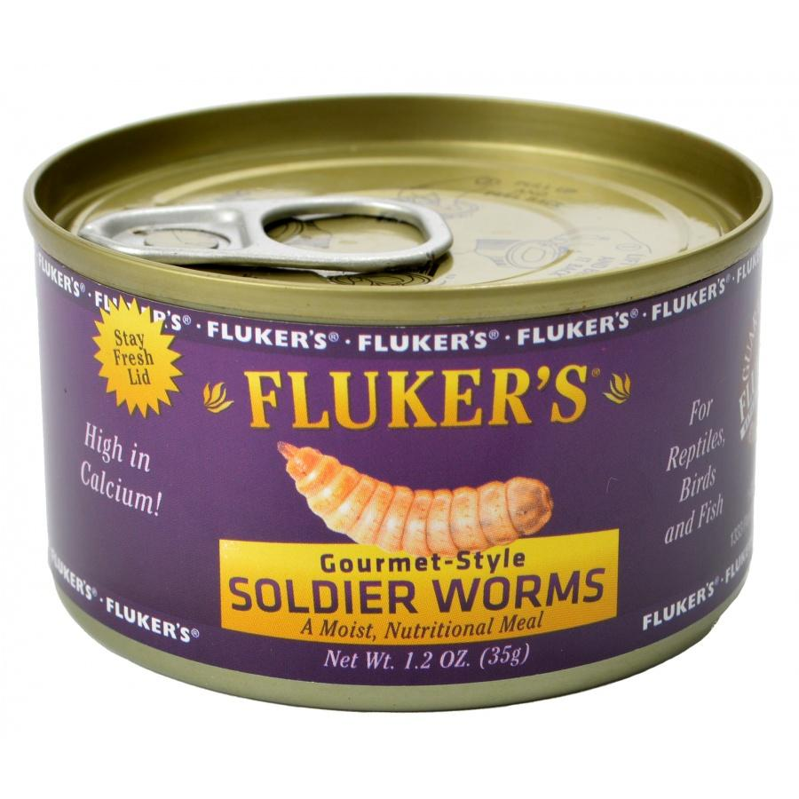 Flukers Gourmet Style Soldier Worms 1.2 oz