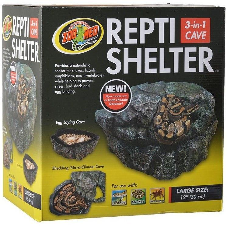 "Zoo Med Repti Shelter 3 in 1 Cave Medium - 8"" Diameter"
