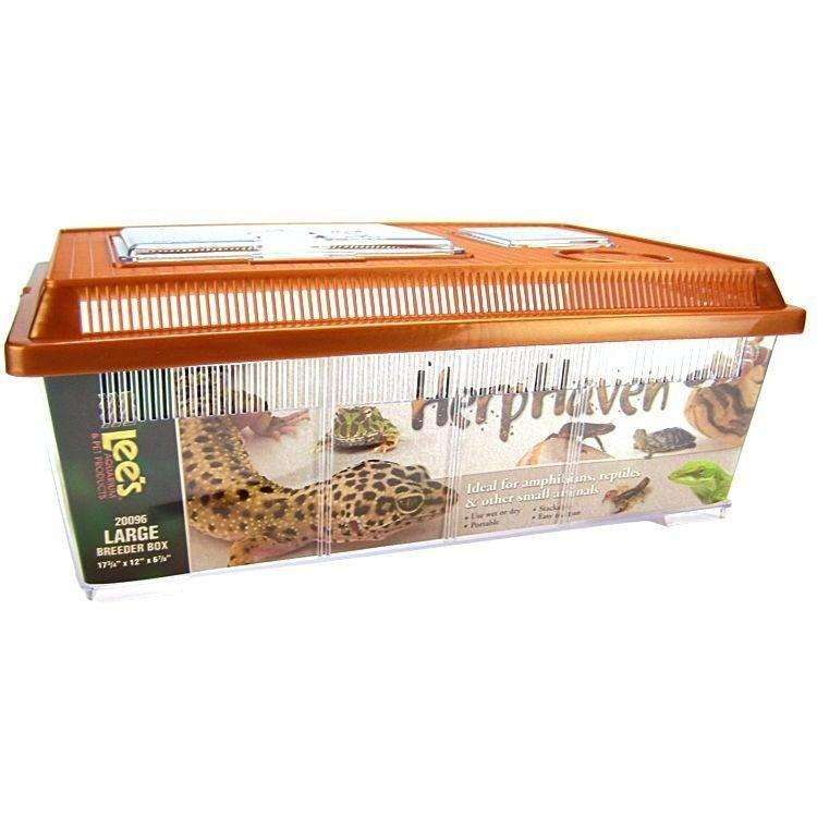 "Lees HerpHaven Breeder Box - Plastic Cages & Pens Lee's Large - 17.75""L x 12""W x 7""H"