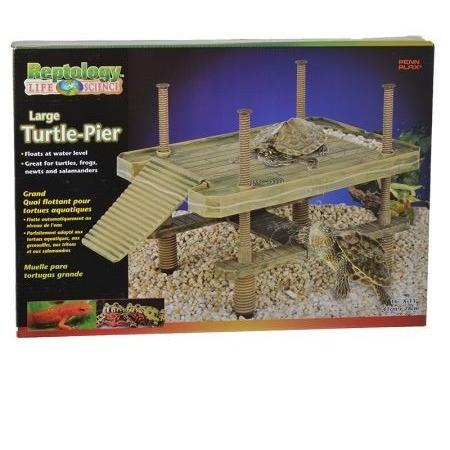 "Reptology Large Floating Turtle Pier - 16""L x 11""W x 16""H"