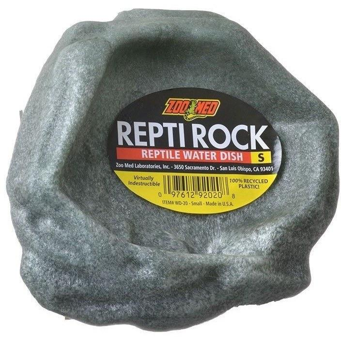 "Zoo Med Repti Rock - Reptile Water Dish X-Small (4.5"" Long x 4"" Wide)"