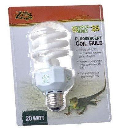 Zilla Tropical UV Coil Lamp 20 Watts