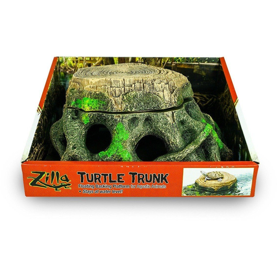 Zilla Freestanding Floating Basking Platform - Turtle Trunk