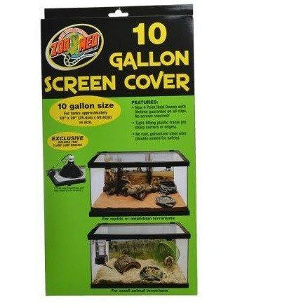 "Zoo Med Animal Habitat 10 Gallon Screen Cover 20"" Long x 10"" Wide"
