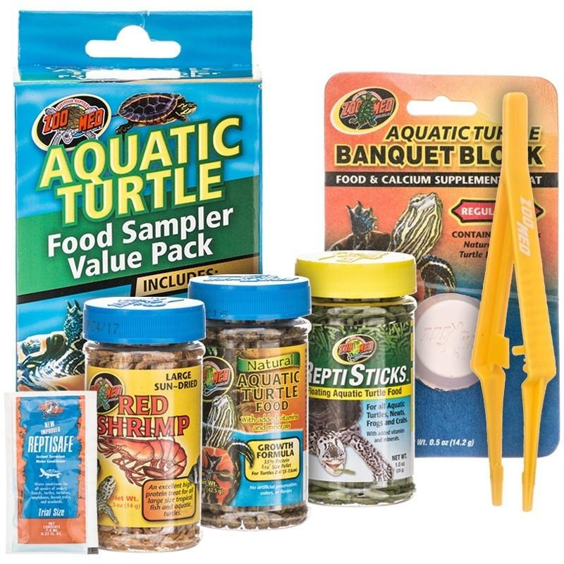Zoo Med Aquatic Turtle Foods Sampler Value Pack Foods Dry Zoo Med