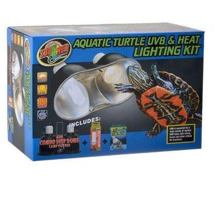 Zoo Med Aquatic Turtle UVB & Heat Lighting Kit Lighting Combo Pack