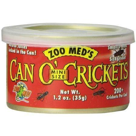 Zoo Med Can O' Mini Sized Crickets Foods Canned Zoo Med