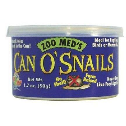 Zoo Med Can O' Snails Foods Canned Zoo Med 1.2 oz (15-30 Snails)