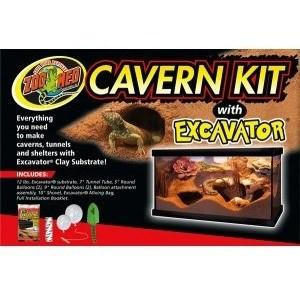 Zoo Med Cavern Kit with Excavator Sand & Gravel Zoo Med Complete Excavation Kit