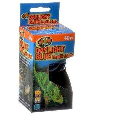 Zoo Med Daylight Blue Reptile Bulb Lighting Incandescent Zoo Med 40 Watts