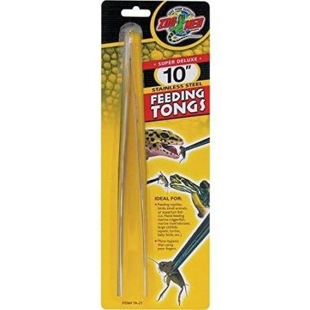 "Zoo Med Feeding Tongs - Stainless Steel 10"" Long Feeding Tongs"