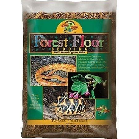Zoo Med Forest Floor Bedding - All Natural Cypress Mulch Bedding Zoo Med 4 Quarts