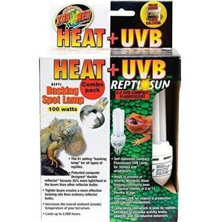 Reptile Lighting Incandescent Zoo Med Heat Uvb Combo Pack Reptiles Lounge
