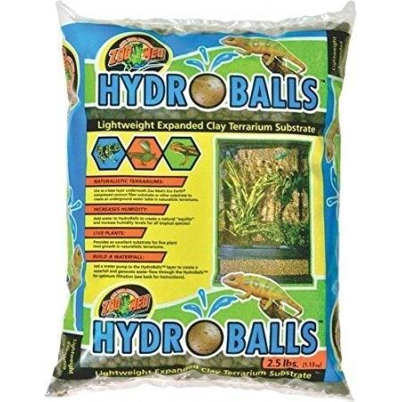 Zoo Med HydroBalls Clay Terrarium Substrate Sand & Gravel Zoo Med 2.5 lbs