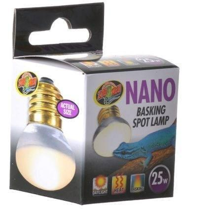 Zoo Med Nano Basking Spot Lamp Lighting Incandescent Zoo Med 25 Watt