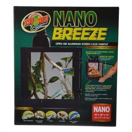 "Zoo Med Nano Breeze Aluminum Screen Cage Habitat 1 Pack (10""L x 10""W x 12""H)"