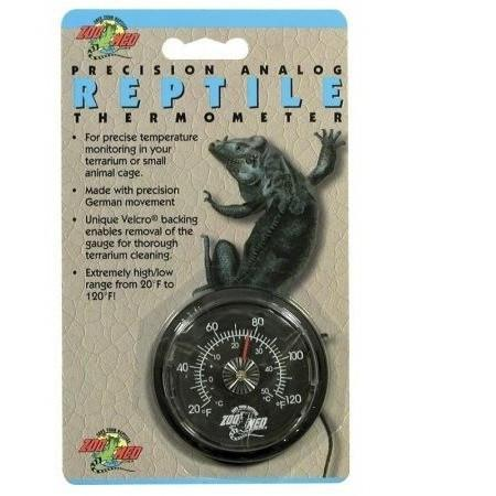 Zoo Med Precision Analog Reptile Thermometer Thermometers Zoo Med
