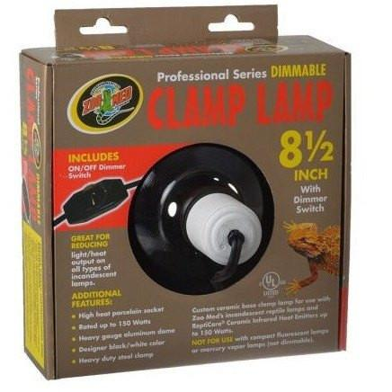 Zoo Med Professional Series Dimmable Clamp Lamp - Black Reflectors & Domes Zoo Med
