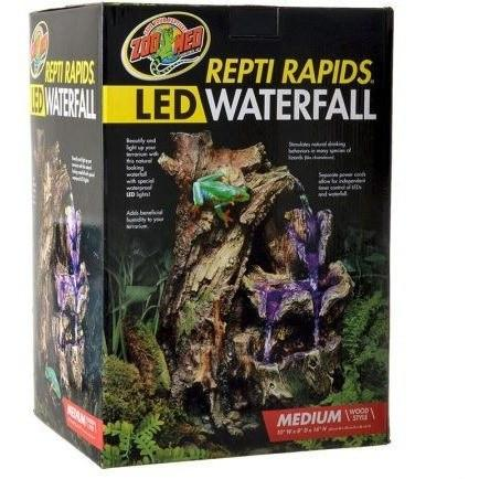 "Zoo Med Repti Rapids LED Waterfall - Wood Style Small - (7""W x 6""D x 10.25""H)"