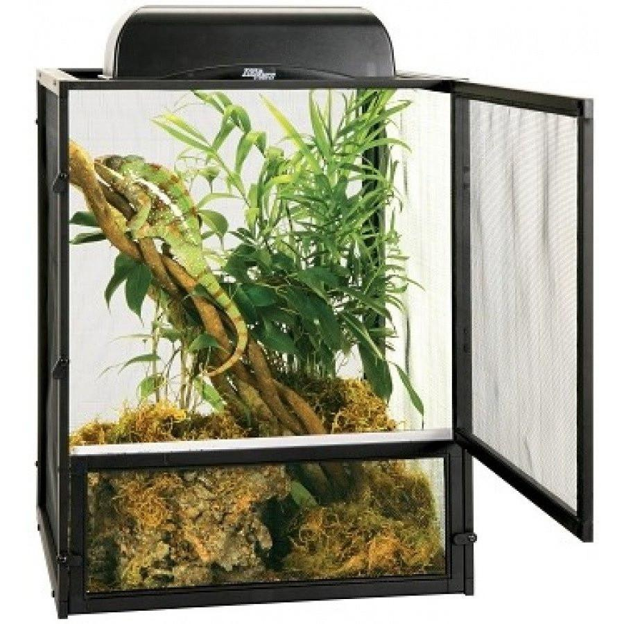 Zoo Med Reptibreeze Open Air Aluminum Screen Cage - Black Cages & Pens Zoo Med
