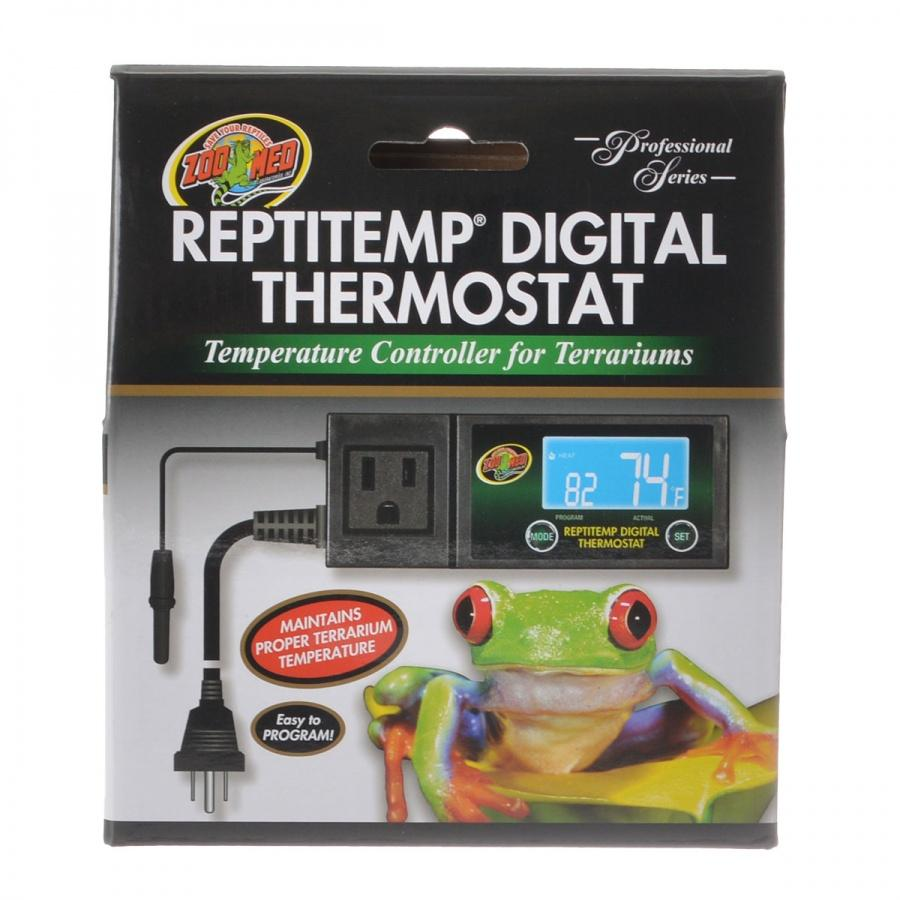 Zoo Med Reptitemp Digital Thermostat Thermometers Zoo Med