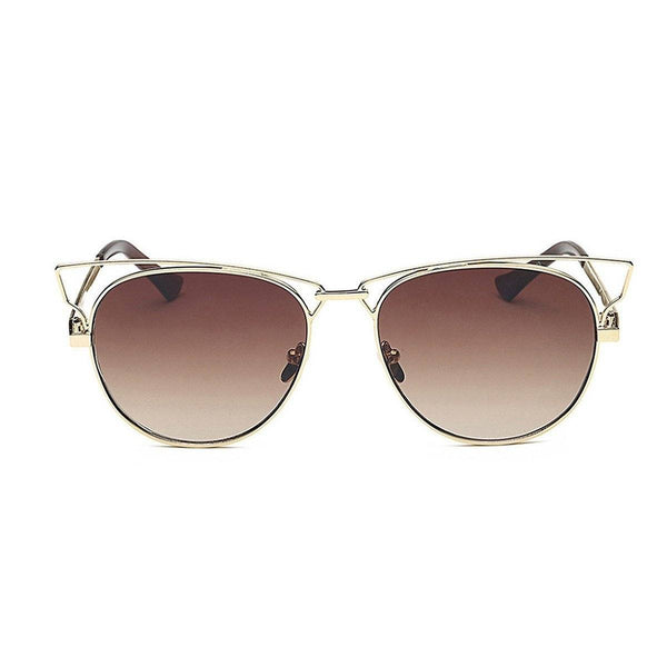 Jaime in Gold + Brown Sunglasses Cat Eye - GETSUNNIES CANADA