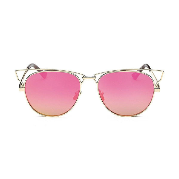 Jaime in Gold + Fuschia Sunglasses Cat Eye - GETSUNNIES CANADA
