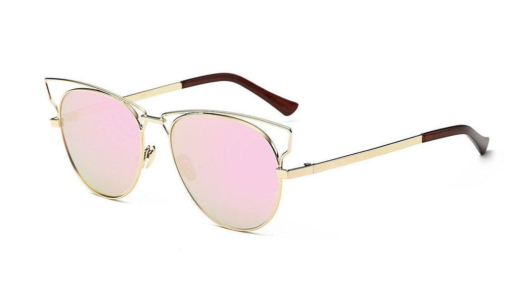Jaime in Gold + Pink Sunglasses Cat Eye - GETSUNNIES CANADA
